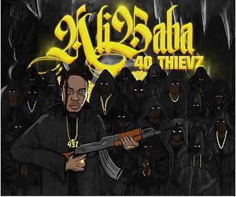 Ali aba- 40 thievz cover art by luckitah art / tno gfx