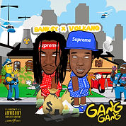 BANKSY X VOLCANO - GANG GANG cover art by luckitah / tnogfx