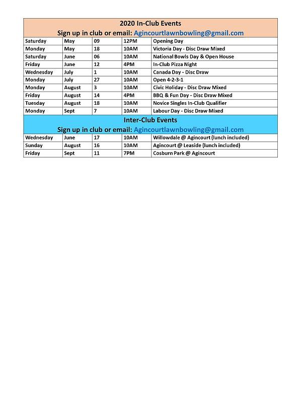 2020 Agincourt In Club Tournaments Sched