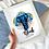 Thumbnail: Personalised Elephant Print
