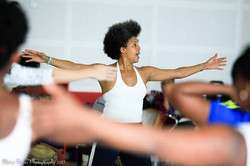 Teaching in Trini/Photo: María Nuñez