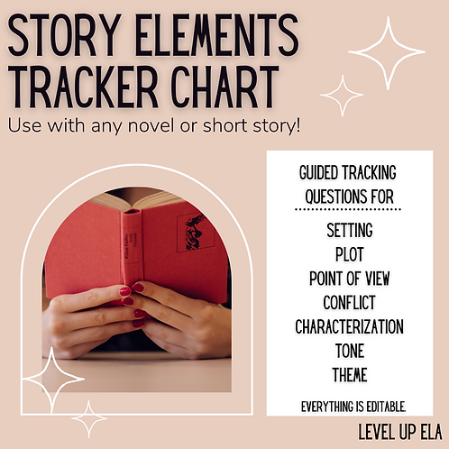 Story Elements Tracker Chart (Use With Any Novel or Short Story!)