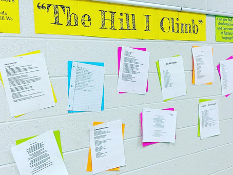 """Poetry Focus: Analyzing Amanda Gorman's """"The Hill We Climb"""" and Writing Activity [Free Resource]"""
