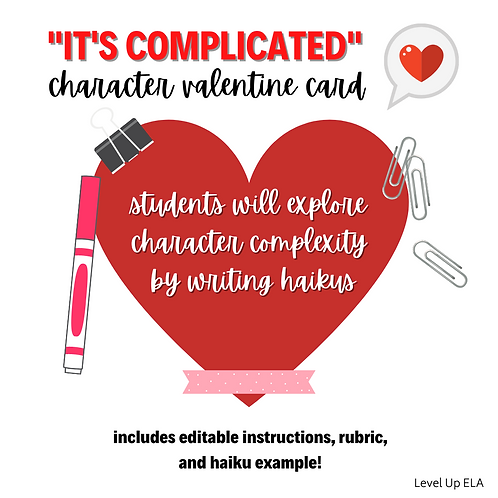 It's Complicated: Character Valentine Activity