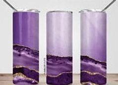 Purple Marble Tumbler