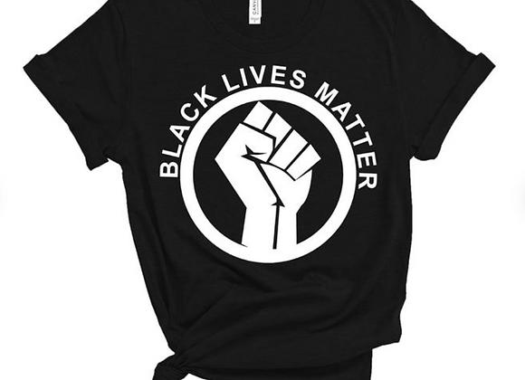 Black Lives Matter Circle Fist