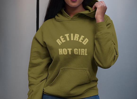 Retired Hot Girl Hooded Sweatshirt
