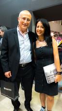 Juan Manuel Prieto con Veónica Mulió