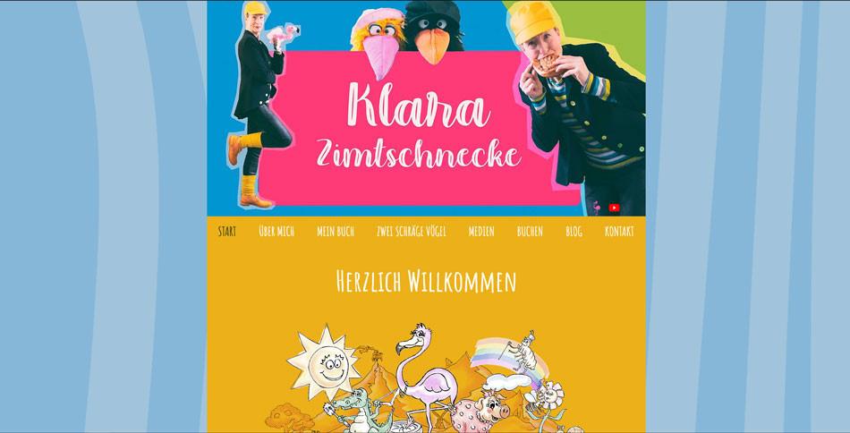 Klara Zimtschnecke Website