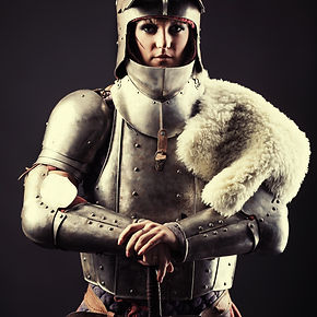 Portrait of a medieval female knight in