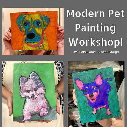 Modern Pet Painting Workshop for Stagewo