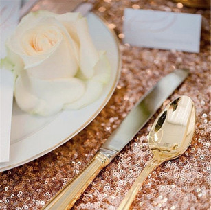 BLUSH SEQUIN TABLE RUNNERS