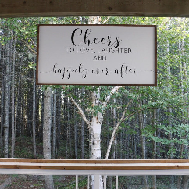 "WOOD ""CHEERS"" SIGN"