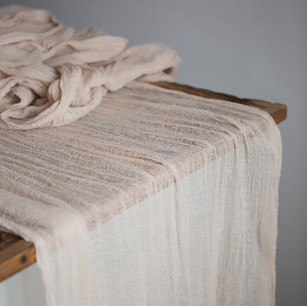 BLUSH GAUZE TABLE RUNNERS