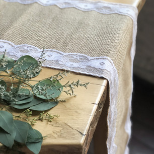 Vintage Lace & Jute Table Runners