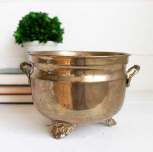 Assorted Vintage Brass Pots