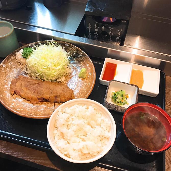 TOKYO FOOD|涉谷必吃 牛かつ もと村炸牛排。