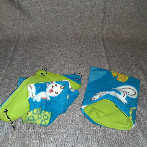 Smallest double hammock and snuggle sack set