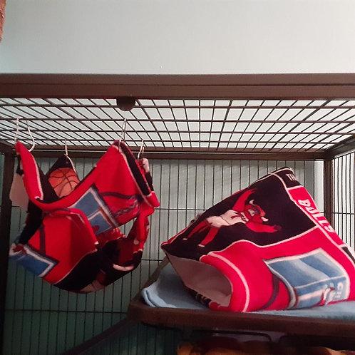 Large double hammock and snuggle sack set