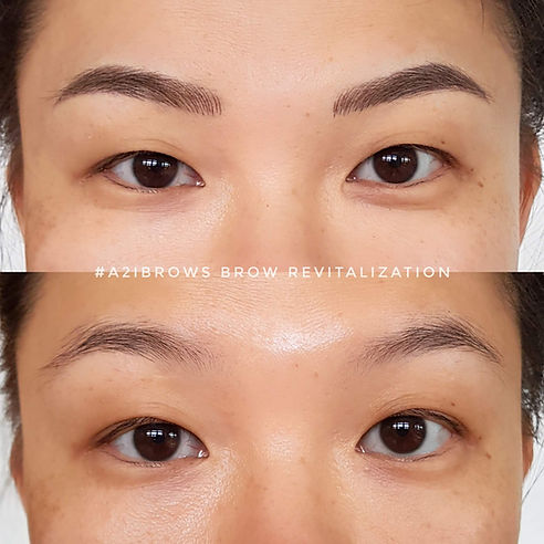 Brows Embroidery . Before & After