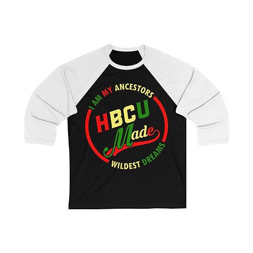 HBCU Made Unisex 3/4 Sleeve Baseball Tee