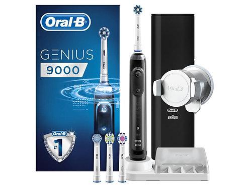 """Электрическая зубная щетка """"черная"""" Oral-B Genius 9000 Black"""