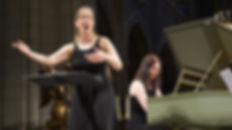 Malina Rauschenfels (left) and Paula Maust (right) perform BrownBag Concerts at Music and Art at Trinity Cathedral in Akron, OH
