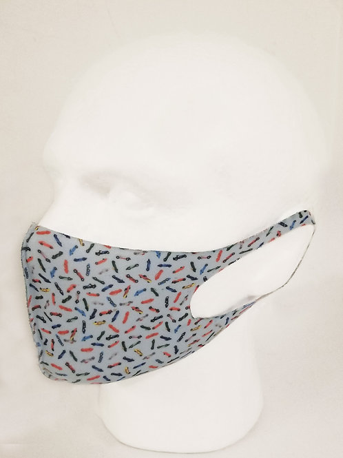 Scattered Cars Face Mask