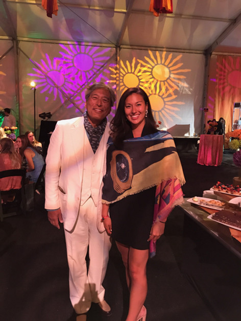 Aya Tange with her father, Paul, Paul Tange at the Pebble Pre Event Gala