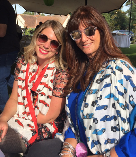 Angie Drake and her friend at the Warren Classic Car Show