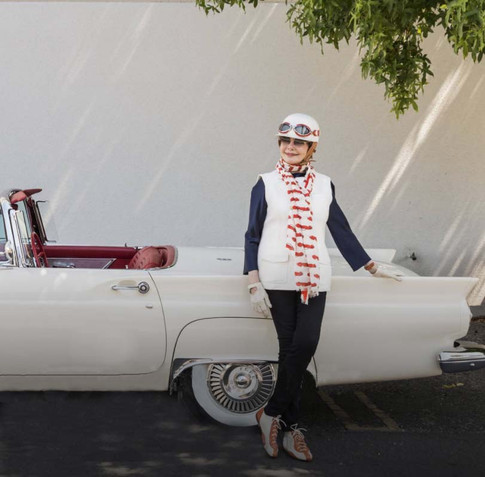 Merle Mullin with her T-Bird