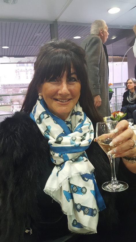 Angie Drake Toasts the Launch of NK Collections in Paris at Retromobile