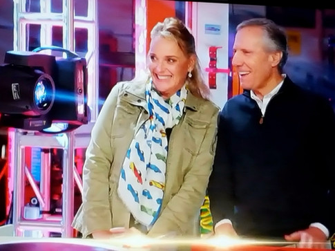 Sandra Button with Bruce Meyer on Leno's Garage