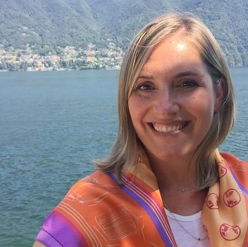Katie Helwig at Villa d'Este