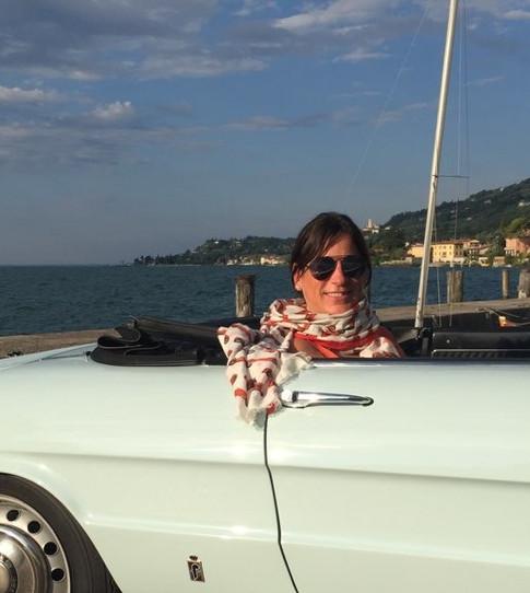 Lori Rosenblum Driving Through Italy in an Alfa Romeo 1750 Duetto Spider