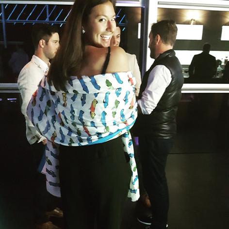 Aya Tange Enjoying the Mercedes-Benz party during Concours Week