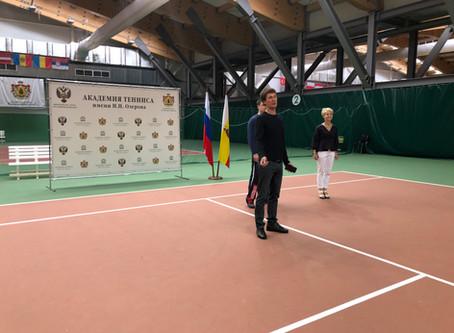 Мастер-класс по теннису для медицинских работников