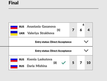 Поздравляем теннисисток с завершением октябрьских турниров!