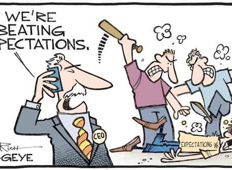 Just For Fun: We're Beating Expectations...