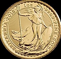 2018 britannia 1oz gold bullion reverse.