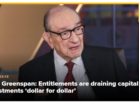 Greenspan Foresees Dramatic Slowdown Because of Entitlement Burden
