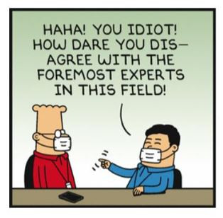 "The Danger of Trusting Those ""Experts"", or Being an Expert With a Non-Consensus View..."