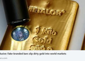 Fake-branded bars slip dirty gold into world markets