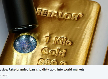 Fake-branded bars slip dirty gold into world markets