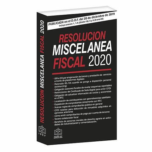 Resolución Miscelánea Fiscal 2020