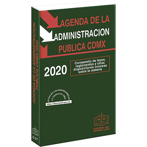 Agenda de la Administración Pública de la CDMX 2020