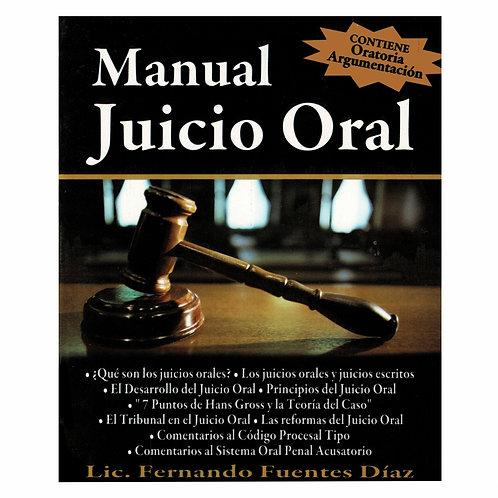 Manual Juicio Oral. Contiene Oratoria y Argumentación