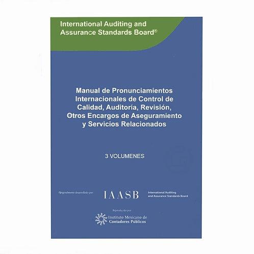 Manual De Pronunciamientos De Control De Calidad Y Auditoría 3 Volumenes