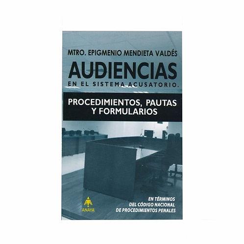 Audiencias en el Sistema Acusatorio. Procedimientos, Pautas y Formularios