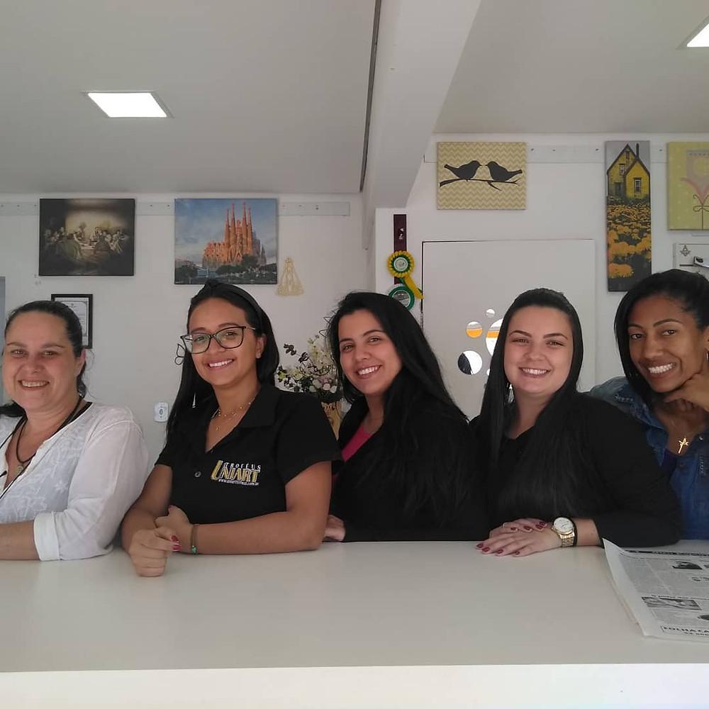 Vendedoras da empresa Uniart